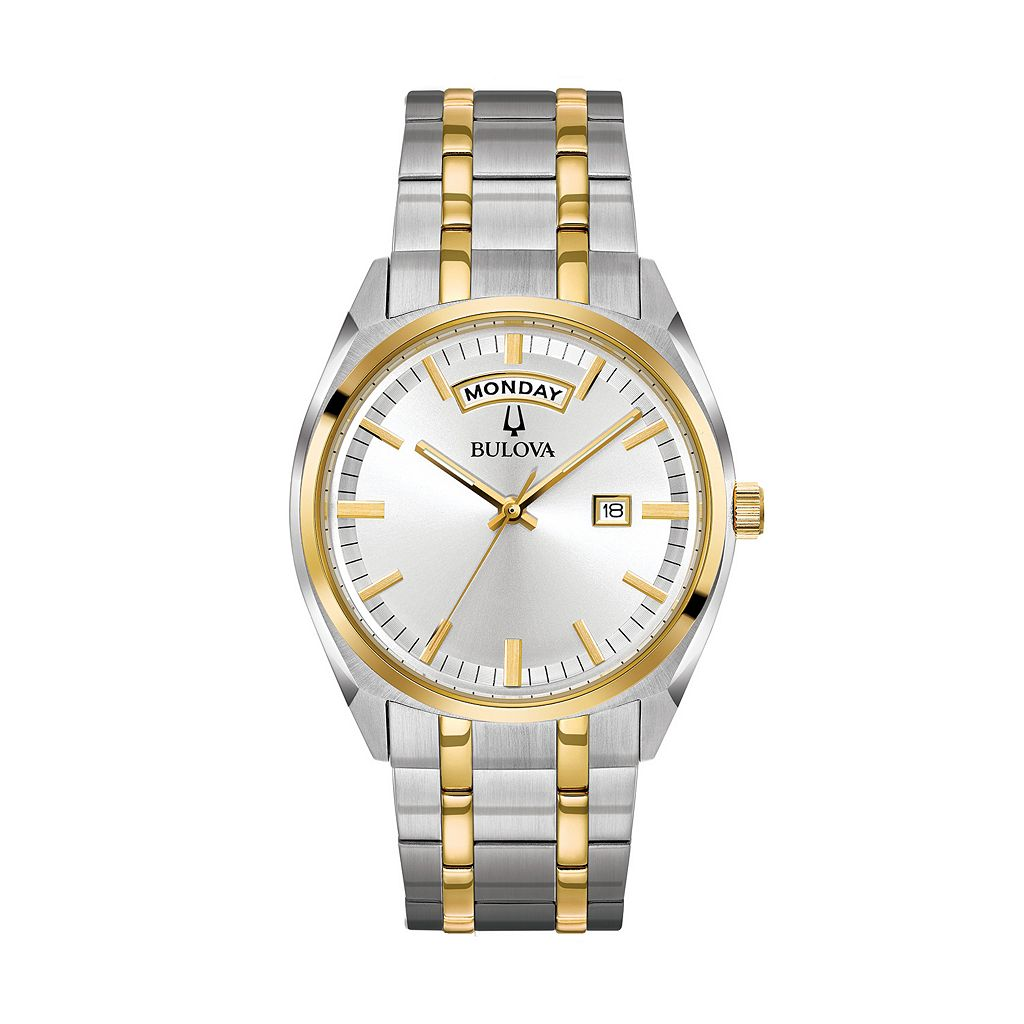 Bulova Men's Classic Two Tone Stainless Steel Watch - 98C127