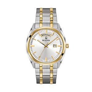 f7190b1e92ec Bulova Men s Two Tone Stainless Steel Automatic Watch - 98A168. Sale
