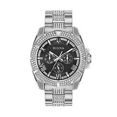 Bulova Men's Crystal Stainless Steel Watch - 96C126