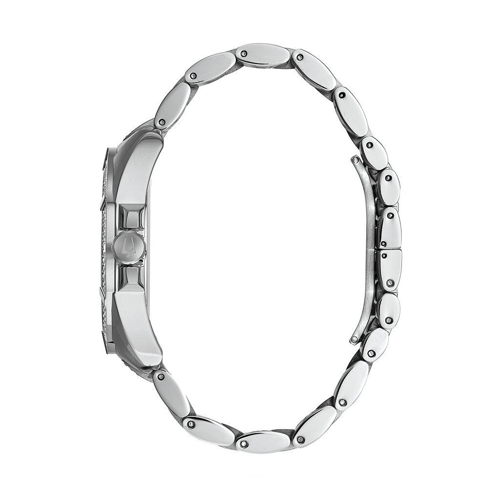 Bulova Men's Crystal Stainless Steel Watch - 96C126