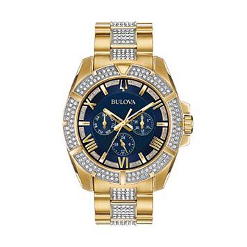 Bulova Men's Crystal Stainless Steel Watch - 98C128