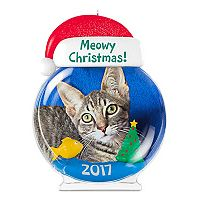 Meowy Christmas! Cat Picture Frame 2017 Hallmark Keepsake Christmas Ornament