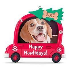 Happy Howlidays! Dog Picture Frame 2017 Hallmark Keepsake Christmas Ornament