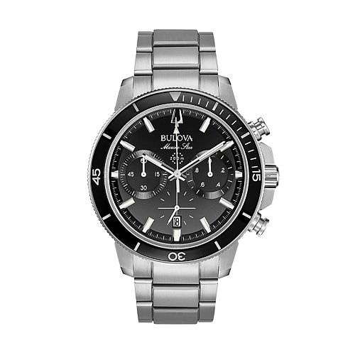 Bulova Men's Marine Star Stainless Steel Chronograph Watch - 96B272