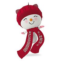 Cute Snowman Granddaughter 2017 Hallmark Keepsake Christmas Ornament