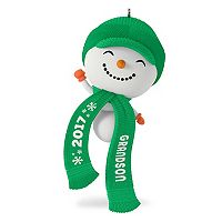 Cute Snowman Grandson 2017 Hallmark Keepsake Christmas Ornament