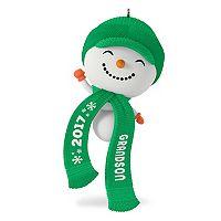 Cute Snowman Grandson 2017 Hallmark Keepsake Christmas Ornament