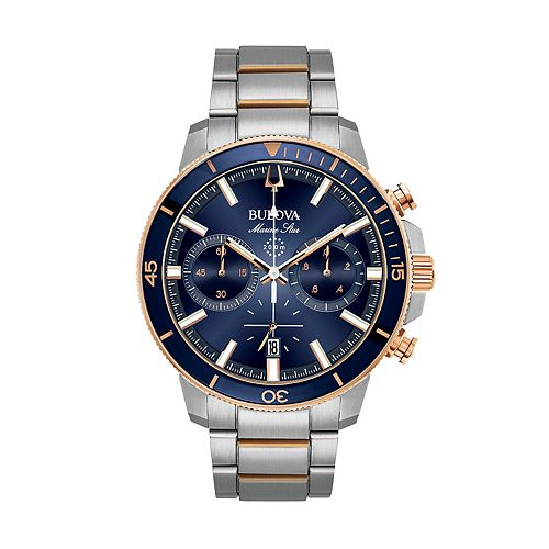Bulova Men's Marine Star Two Tone Stainless Steel Chronograph Watch - 98B301