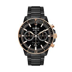 Bulova Men's Marine Star Black Ion-Plated Stainless Steel Chronograph Watch - 98B302