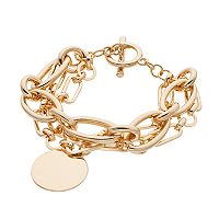 Disc Double Strand Toggle Bracelet