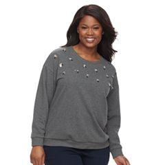 Plus Size Apt. 9® Adorned Sweatshirt