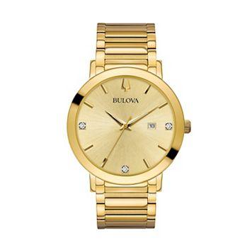 Bulova Men's Modern Diamond Stainless Steel Watch - 97D115