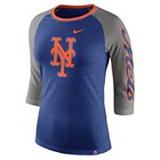 Women's Nike New York Mets Triblend Tee