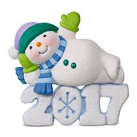 Frosty Fun Decade Lounging Snowman 2017 Hallmark Keepsake Christmas Ornament