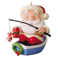 Merry Fishmas Santa Fishing 2017 Hallmark Keepsake Christmas Ornament
