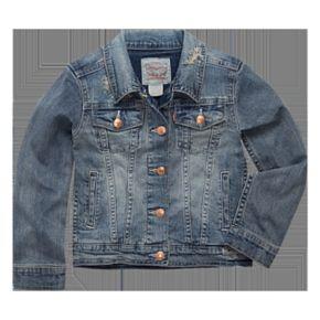 Girls 4-6x Levi's® Distressed Trucker Jean Jacket