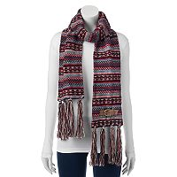 MUK LUKS Buckle Accent Fringed Oblong Scarf