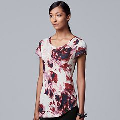 6af52b5ceed62f Women's Simply Vera Vera Wang Essential Print Scoopneck Tee