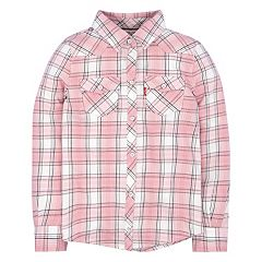 Girls 4-6x Levi's® Pink Western Plaid Shirt
