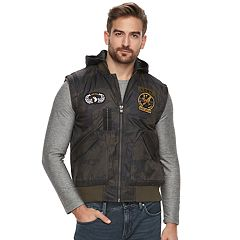 Men's XRAY Slim-Fit Hooded Military Vest