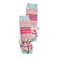Women's MUK LUKS Chevron Beaded Bow Arm Warmers