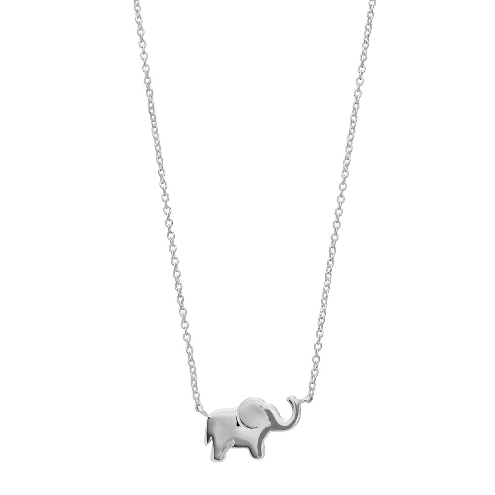 Love this life sterling silver elephant necklace aloadofball Gallery