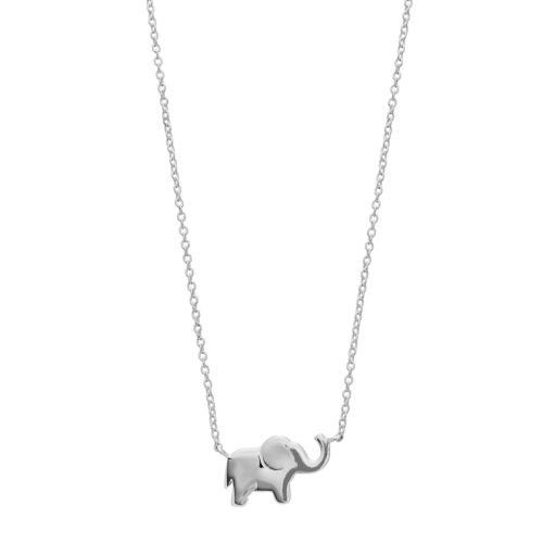 Love This Life&Nbsp;Sterling Silver Elephant Necklace by Kohl's