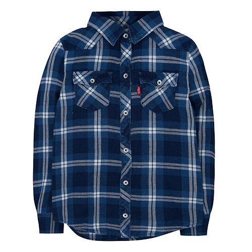Girls 4-6x Levi's® Western Plaid Shirt