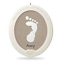 Little Feet, Big Blessing Baby's Footprint Porcelain Christmas Ornament Kit 2017 Hallmark Keepsake Christmas Ornament