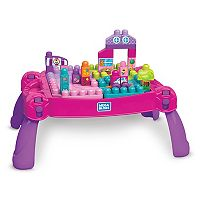 Mega Bloks Mega First Builders Build 'n Learn Pink Table