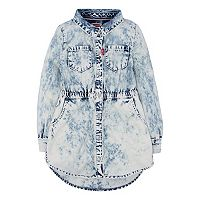 Girls 4-6x Levi's® Fit & Flare Acid Wash Denim Shirt Dress