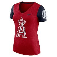 Women's Nike Los Angeles Angels of Anaheim Dri-FIT Touch Tee