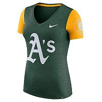 Women's Nike Oakland Athletics Dri-FIT Touch Tee