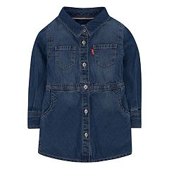 Girls 4-6x Levi's® Fit & Flare Denim Shirt Dress