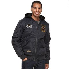 Men's XRAY Slim-Fit Hooded Military Jacket
