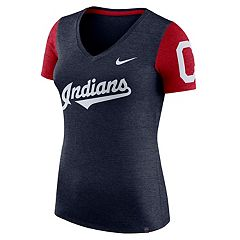 Women's Nike Cleveland Indians Dri-FIT Touch Tee