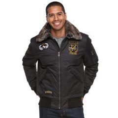 Mens Black Bomber Winter Coats & Jackets - Outerwear, Clothing ...