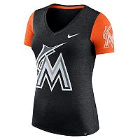 Women's Nike Miami Marlins Dri-FIT Touch Tee
