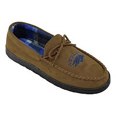 Men's Nevada Wolf Pack Microsuede Moccasins