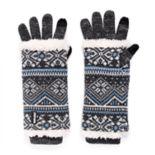 Women's MUK LUKS 3-in-1 Fairisle Tech Gloves