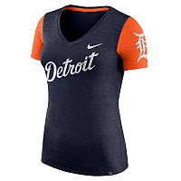 Women's Nike Detroit Tigers Dri-FIT Touch Tee