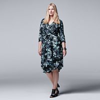 Plus Size Simply Vera Vera Wang Faux-Wrap Dress