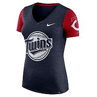 Women's Nike Minnesota Twins Dri-FIT Touch Tee