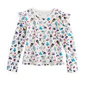 Girls 7-16 American Girl Flutter Sleeve Patterned Top