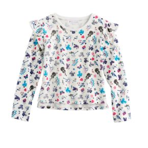 Girls 7-16 American Girl Flutter Sleeve Patterned Top