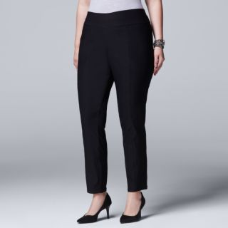 Plus Size Simply Vera Vera Wang Modern Fit Skinny Ankle Pants