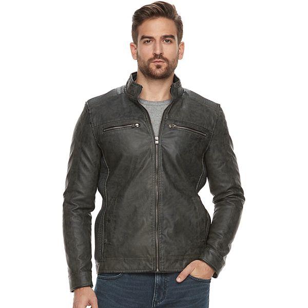 Men's XRAY Faux-Leather Jacket