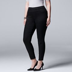 Plus Size Simply Vera Vera Wang Pull-On Jeggings