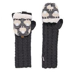 Women's MUK LUKS Snowflake Long Flip-Top Mittens
