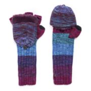 Women's MUK LUKS Snowflake Long Flip-Top Mittens